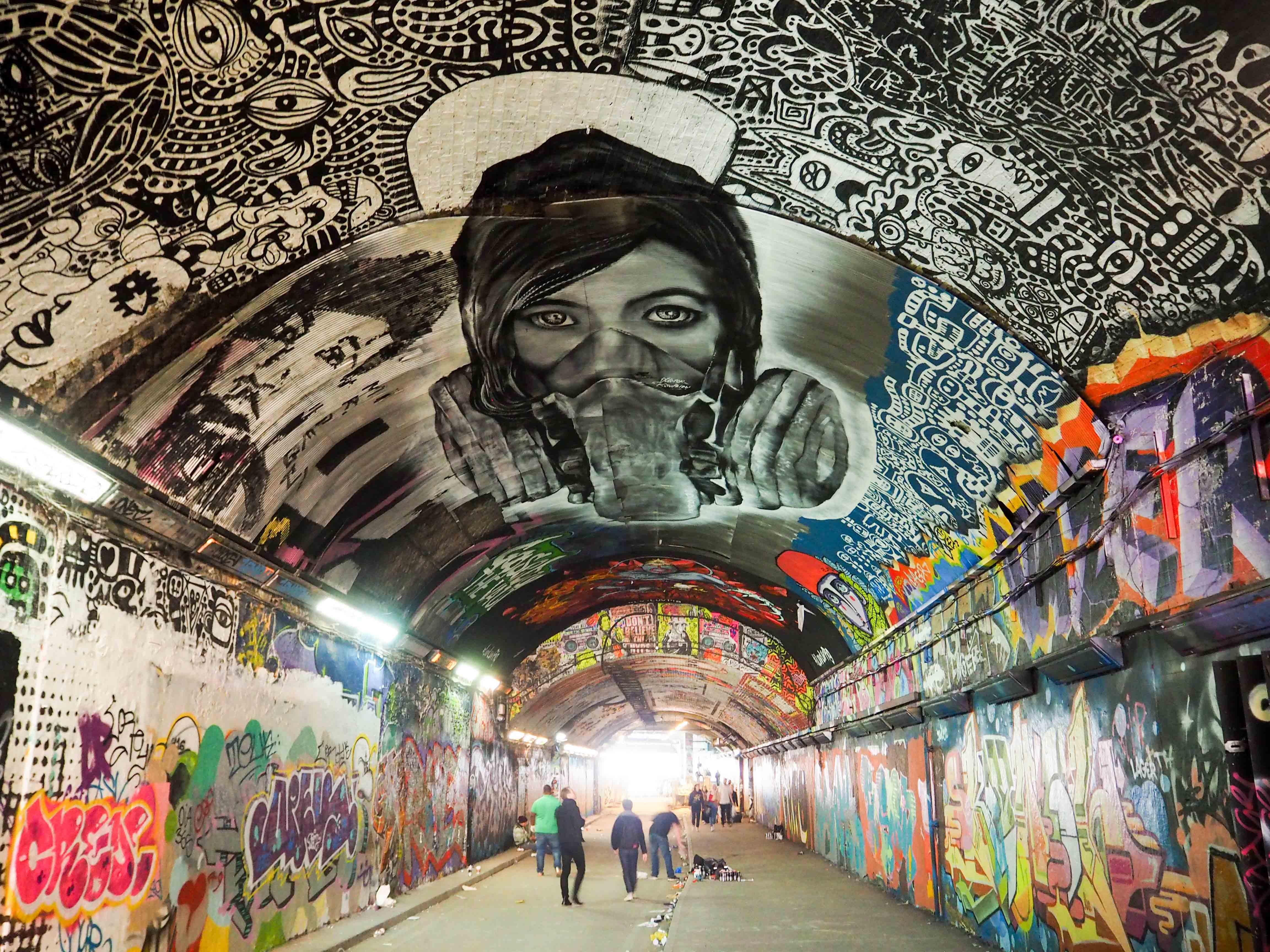 im Tunnel unter der Waterloo Station