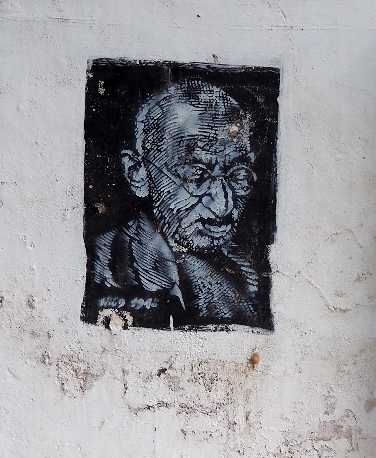 Stencil von Gandhi