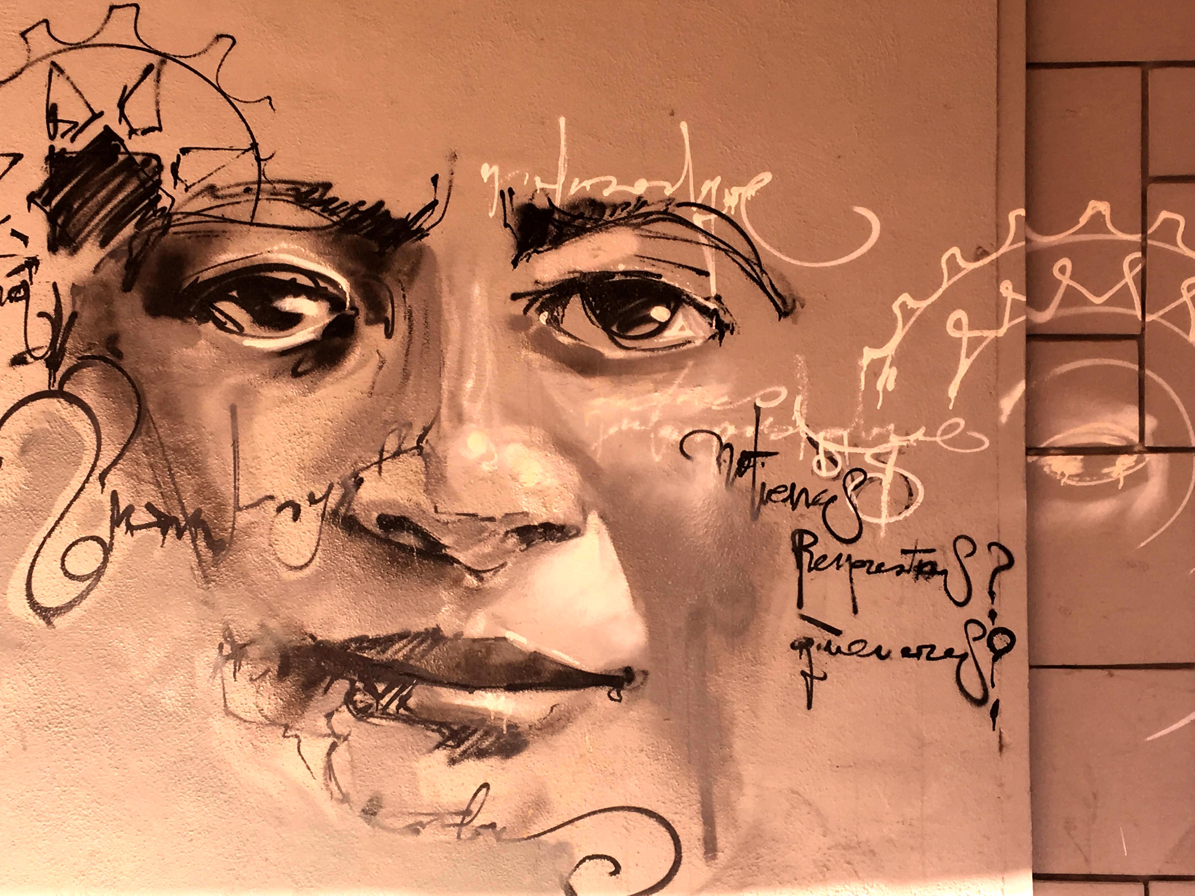 Mural von El Niño de las Pinturas Portrait