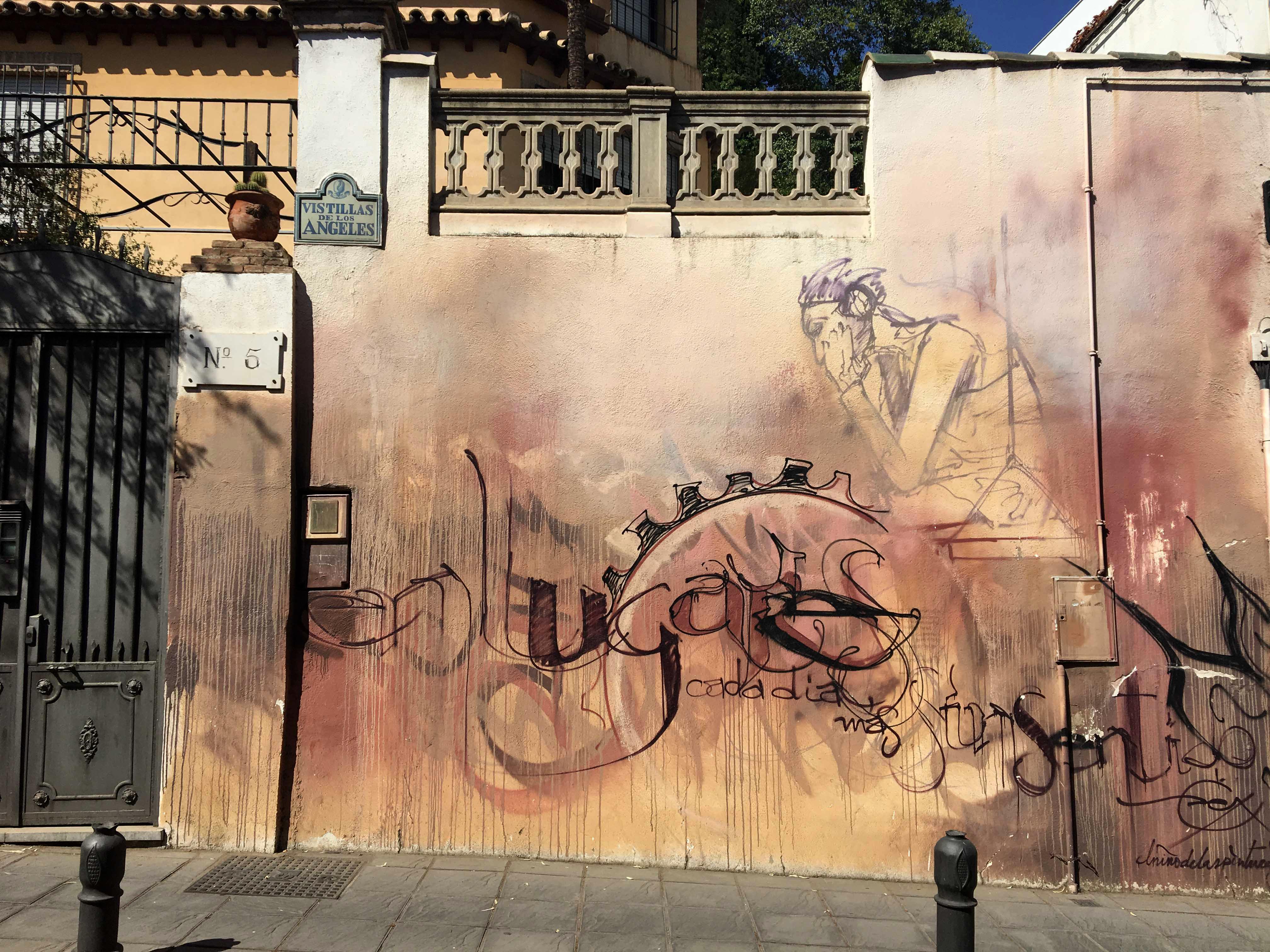 Detail eines Murals von El Niño de las Pinturas
