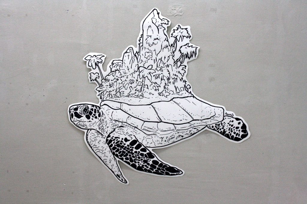 Schildkröte mit Urwald