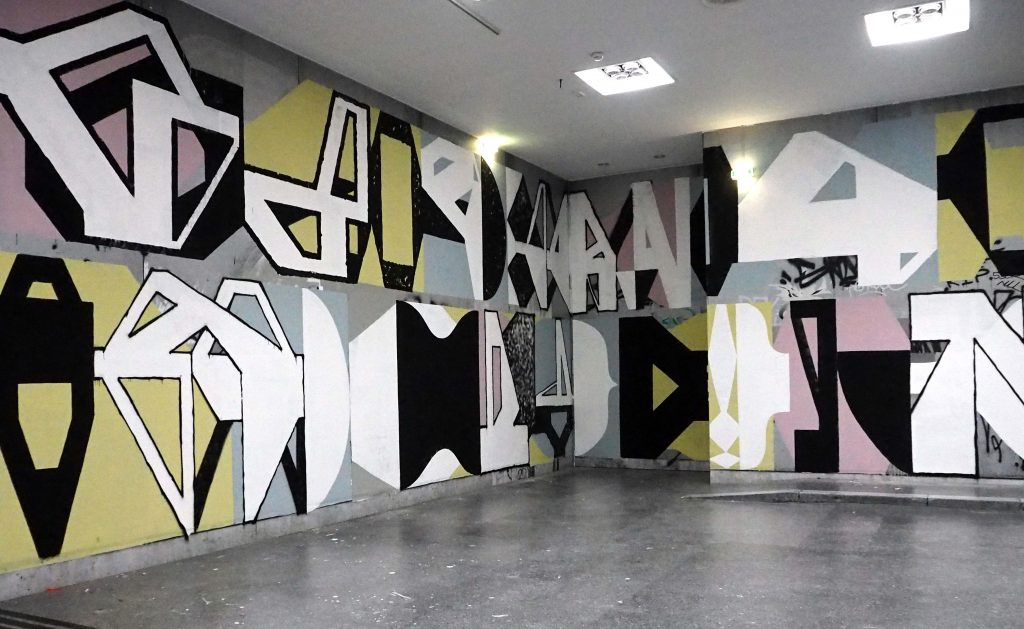 kubistisch wirkende Flächen