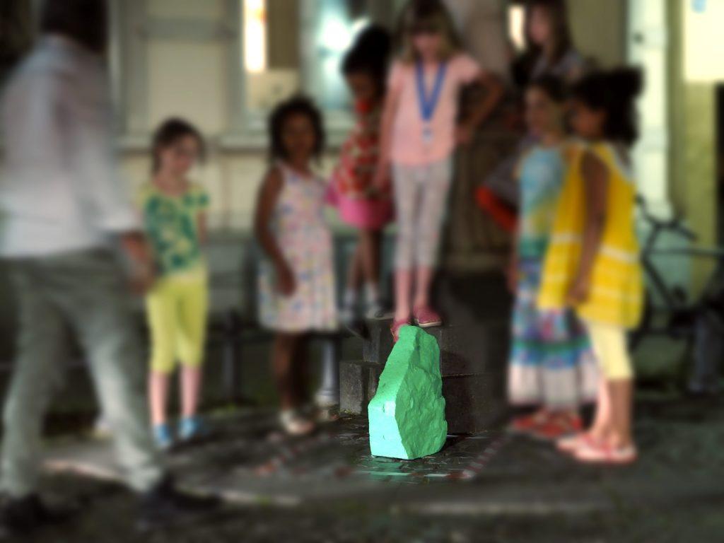 grüner Stein