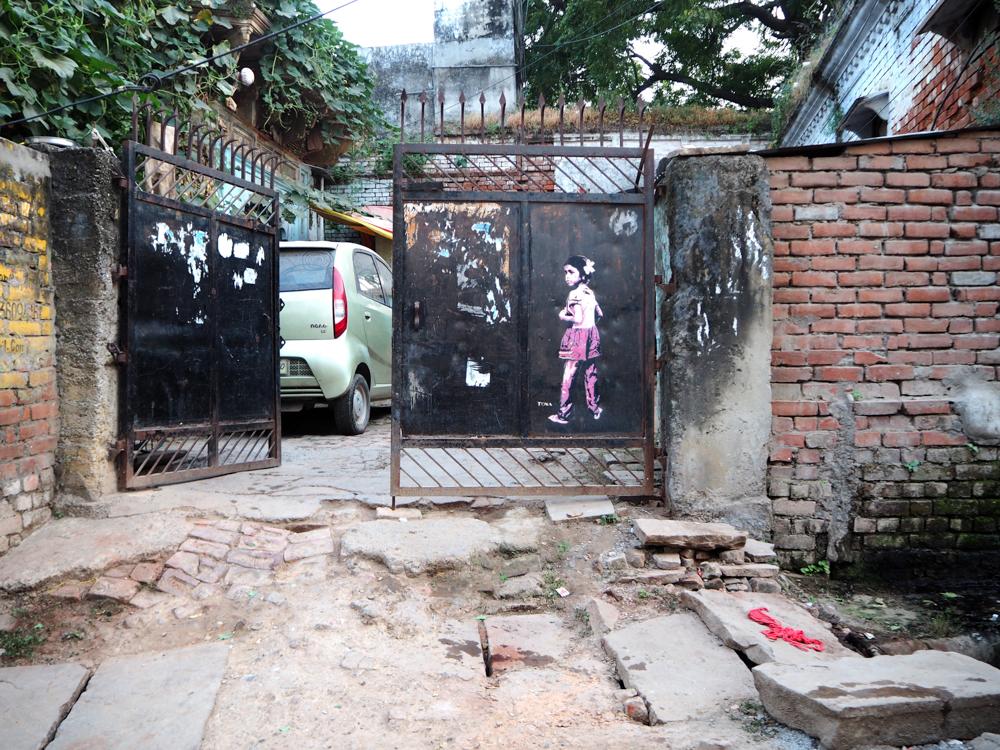 Mädchen Stencil von Tona