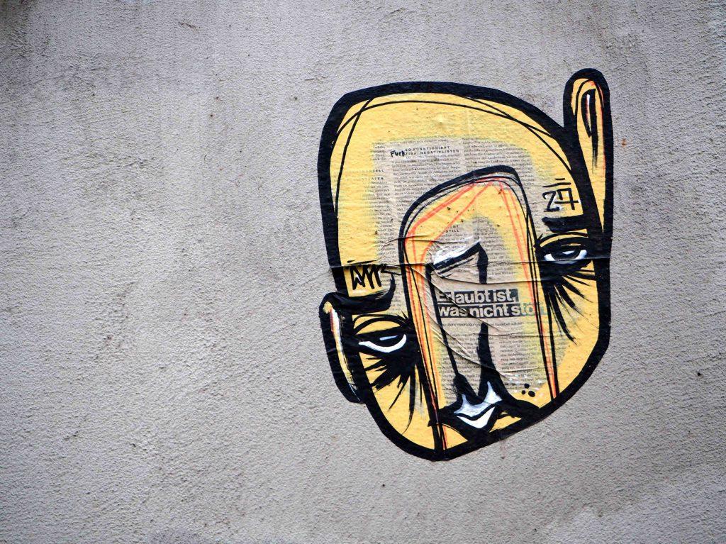 gelbes Gesicht