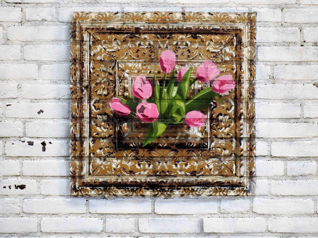 Tulpen mit Rahmen