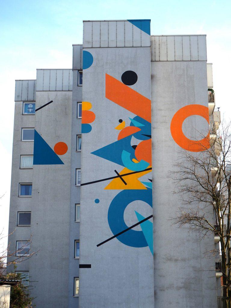 geometrische Formen auf der Hauswand