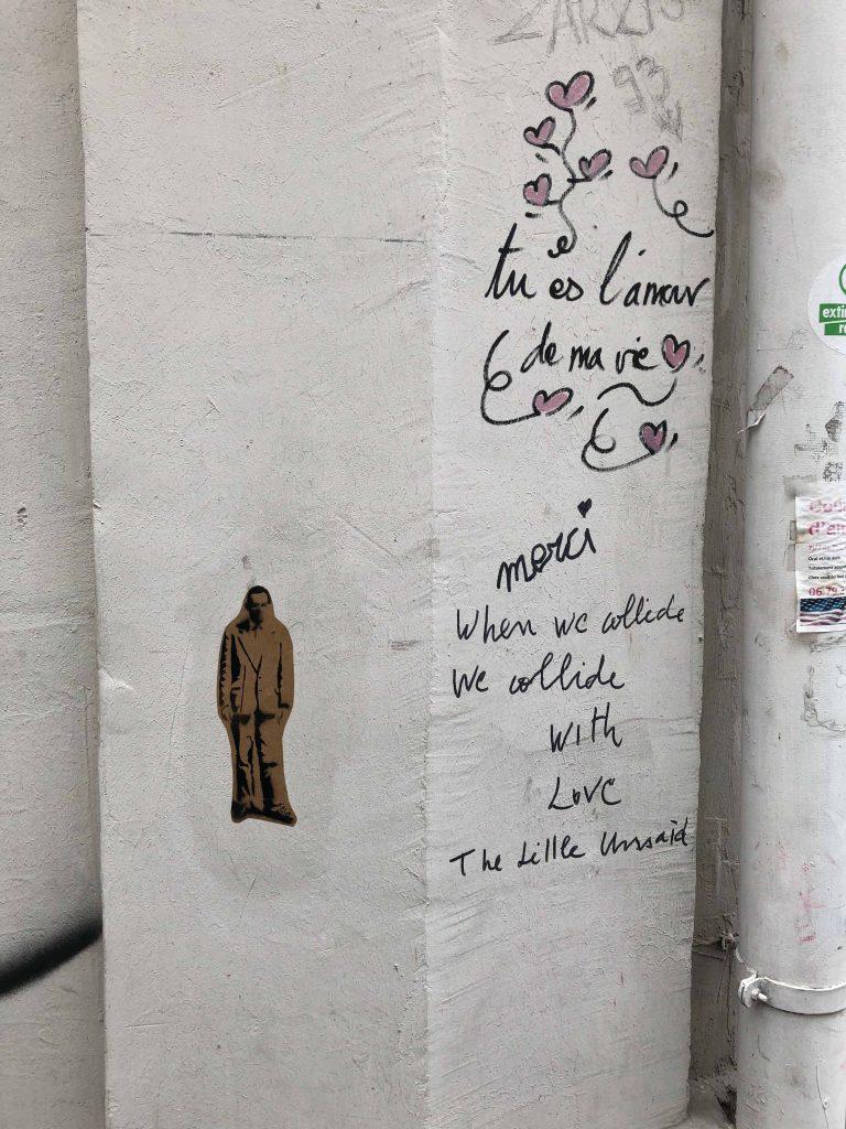 Paste up und kleine Liebesbriefe