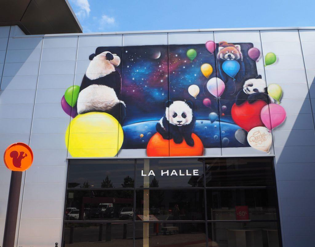 Panda und Ballons
